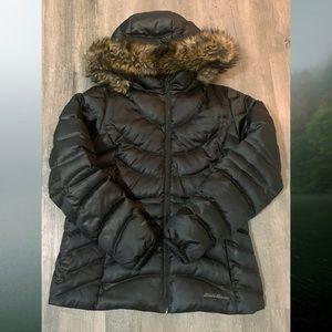 Eddie Bauer Ladies Down Hooded Jacket (LG)